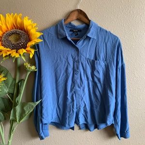 Open-back Button up Long Sleeve